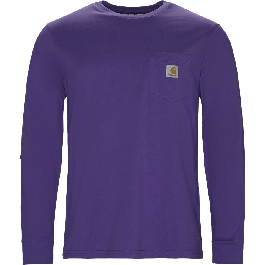 L/S POCKET TEE I022094. - L/S Pocket - T-shirts - Regular - FROSTED VIOLA - 1